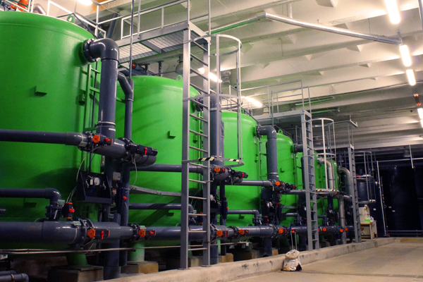 water treatment tanks at power plant - SinapTec ultrasonics